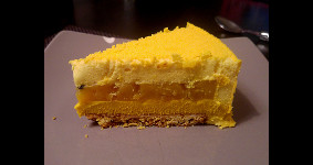 entremet dulcey mangue passion vu en coupe